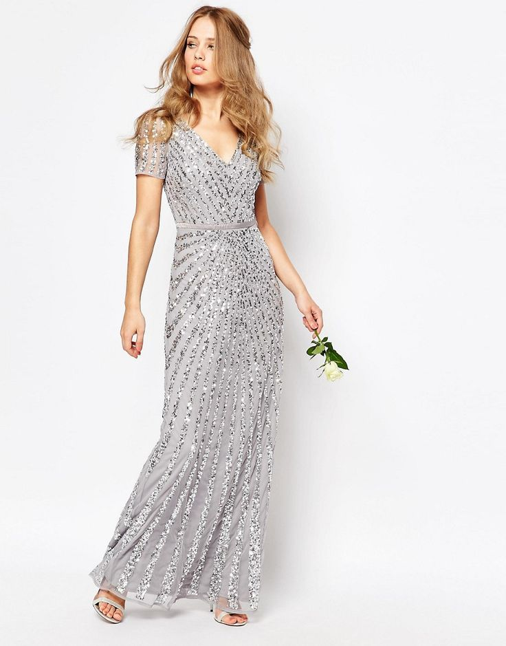 Image 4 ofMaya Sequin All Over Maxi Dress - for one of the sisters?