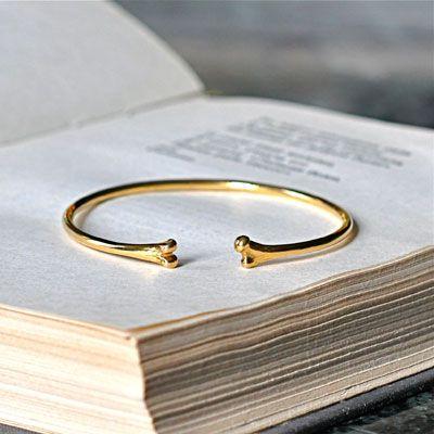 St Kilda Jewelry - skulls 'n bones bracelets - Wrist bone cuff in brass