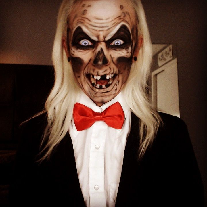 Crypt Keeper makeup and cosplay Halloween horror IG: TheTrashMask