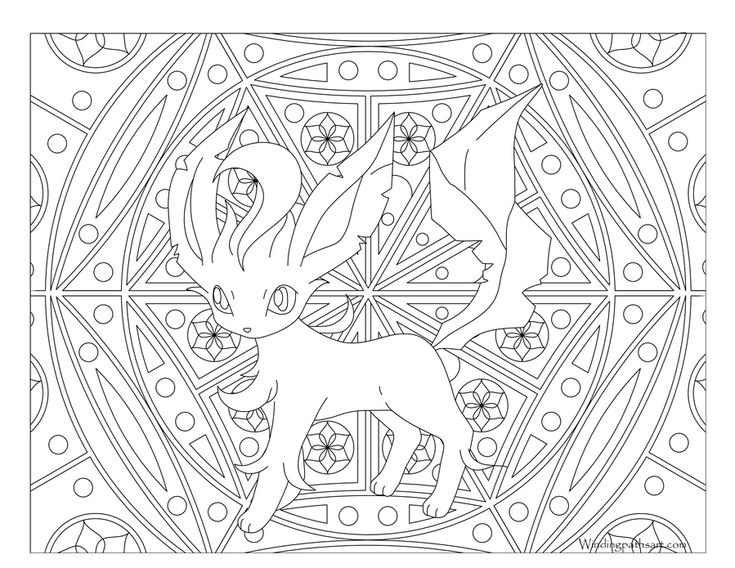470 leafeon pokemon coloring page