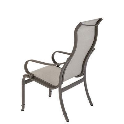 Tropitone Torino Patio Dining Chair Finish: Parchment, Fabric: Sparkling Water