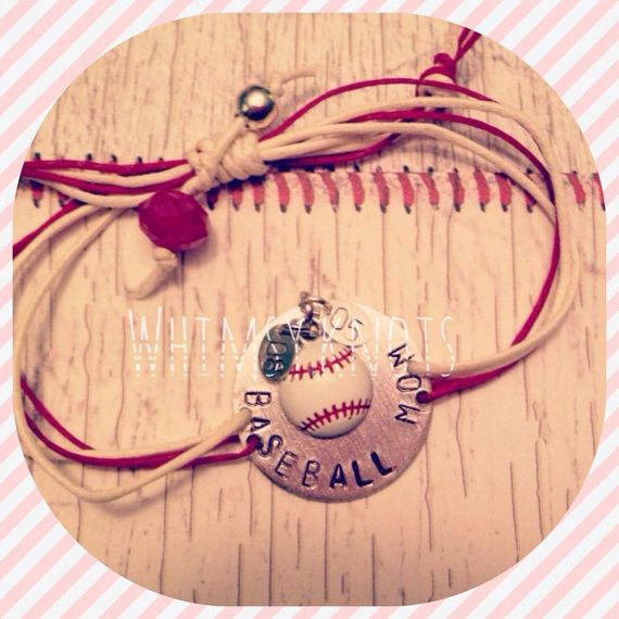 Sports Mom  Bracelet - great for layering/stacking or alone. Personalized, Hand-Stamped Jewelry on Etsy, $21.00