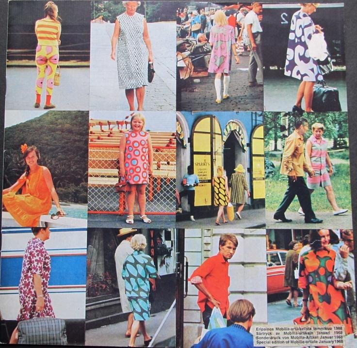 Rare 1968 marimekko mobilia hippie textile design finland for Mobilia 1970
