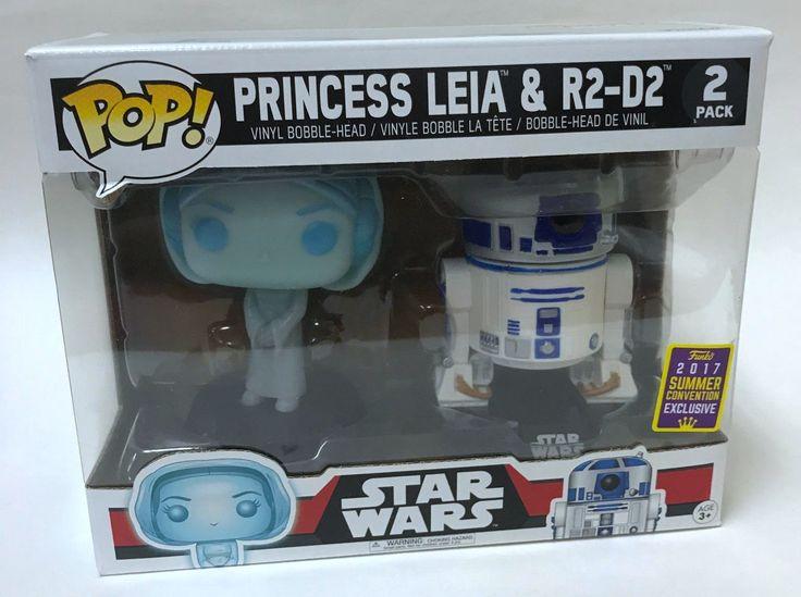 Funko Pop Star Wars Princess Leia & R2-D2 2017 Summer Convention Exclusive