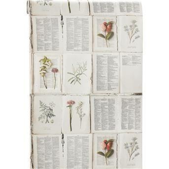 BEHANG SAAR OFF-WHITE #behang #opdemuur #kwantum #bloemen #romantisch #nostalgisch