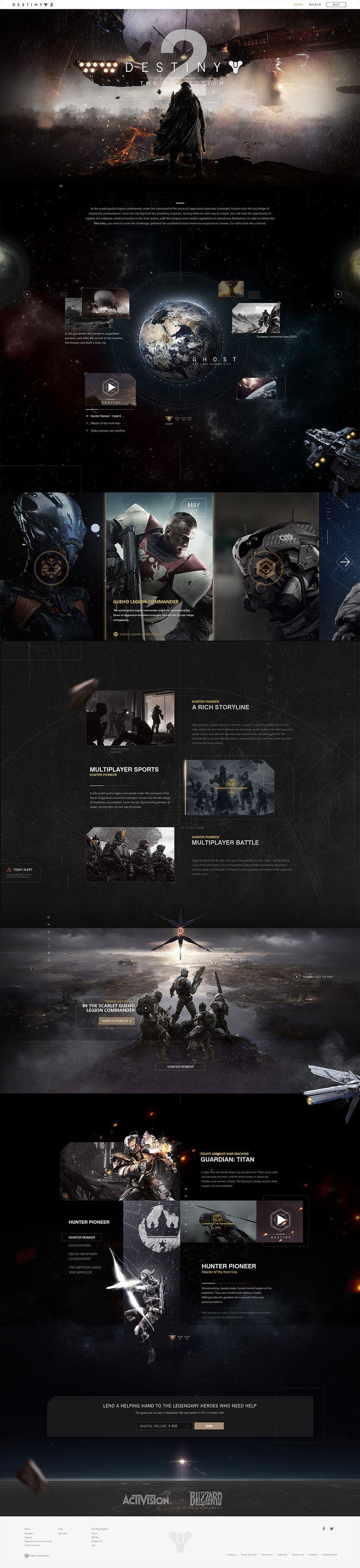 命运2|网页|游戏/娱乐|佳大大丶 - 原创作品 - 站酷 (ZCOOL)
