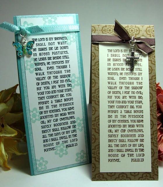 stamping up north with laurie: Our daily bread prayer bookmarks
