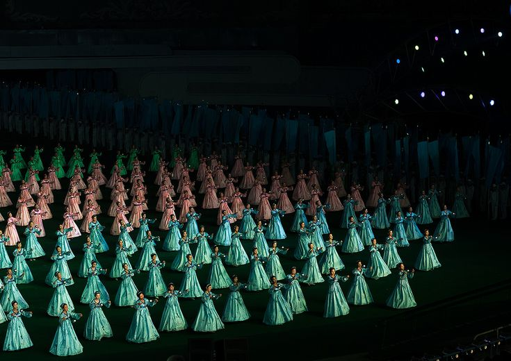 https://flic.kr/p/23Mk5Fr | North Korean women dancing in choson-ot during the Arirang mass games in may day stadium, Pyongan Province, Pyongyang, North Korea | © Eric Lafforgue www.ericlafforgue.com