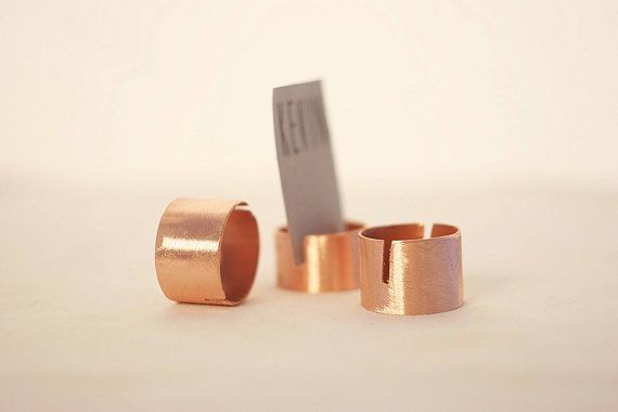 25 pieces rustic copper pipe place card holders by SnakeInChest
