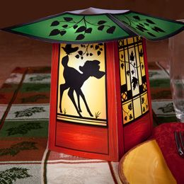Cute Bambi autumn paper lantern, template printout & directions from Disney on this site.