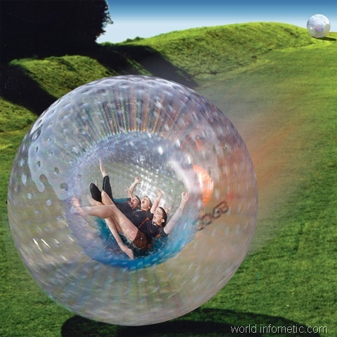 I want this - Zorb is a large inflated plastic ball, with another ball inside in which you roll down a hill, with a cushion of air between person and ground: Adventure, Hamsters Ball, Things To Do In New Zealand, Fun, Travel, Places, The, My Buckets Lists, The Buckets Lists