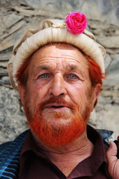 Blue Eyed Kalasha Man - Bumboret village, Kalash valley, district Chitral, KPK, Pakistan.