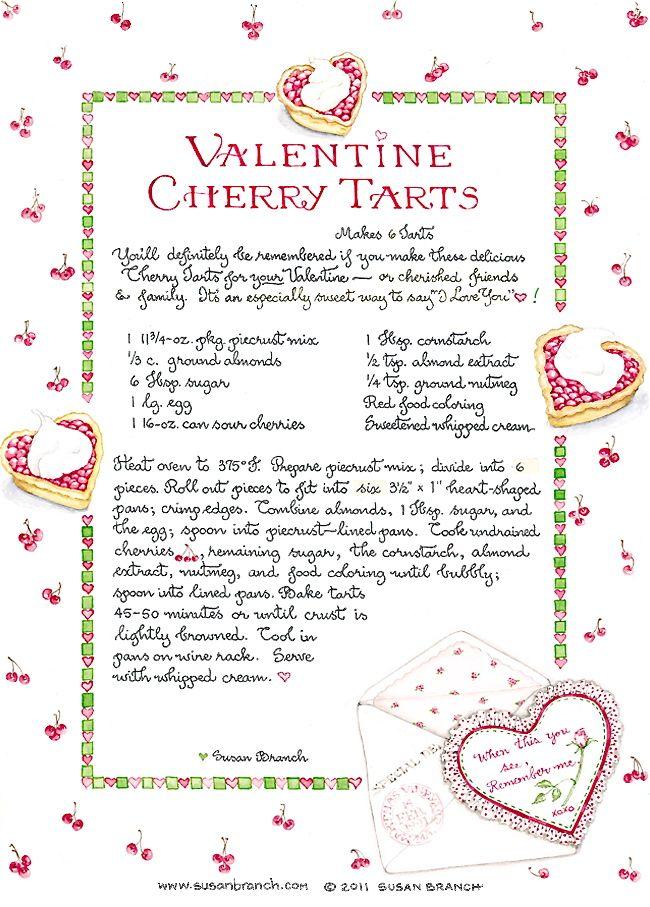 Susan Branch Valentine Cherry Tarts