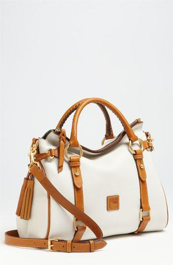 Dooney & Bourke ~ Tan + White Leather Satchel, available at Nordstrom