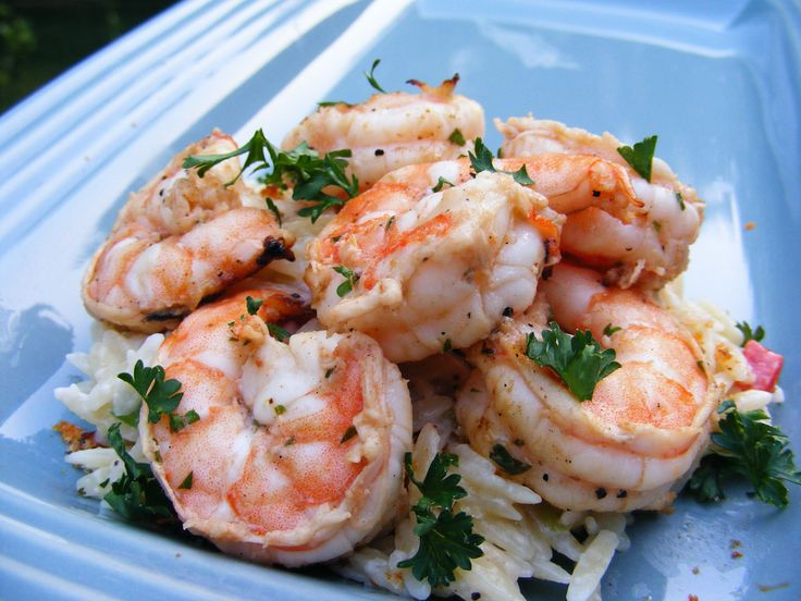 Recipe Picture:Barbecued Prawns with Lemon, Parsley and Garlic