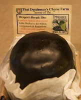 Dragon's Breath Blue Cheese. A sharp and pungent blue cheese from That Dutchman's Farm in Colchester County.