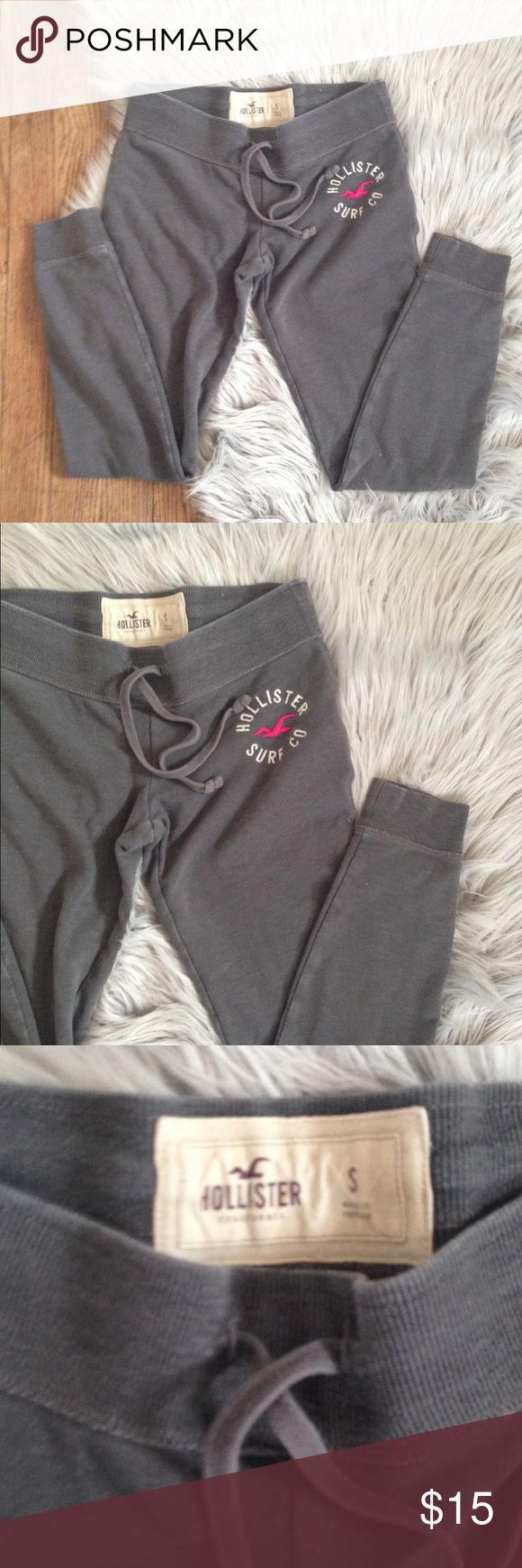 Hollister Joggers sweatpants Small Excellent used condition. Worn a handful of times. Jogger sweater pants with drawstring elastic waist. Color: gray. Size: Small. Brand: Hollister. No trades. Free gift with any purchase & 15% off all bundles. Hollister Pants Track Pants & Joggers