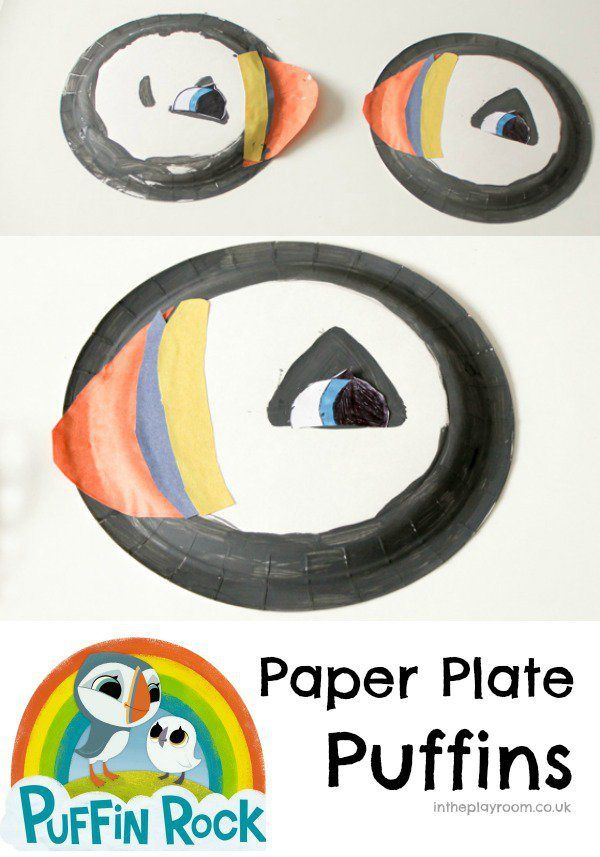 Paper Plate Puffin Oona from Puffin
