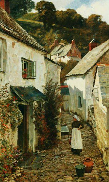 A Street in Clovelly, 1899, Edward Wilkins Waite. English (1854 - 1924)