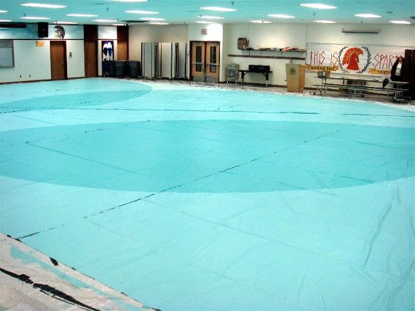 How to make a winter guard floor from recycled billboards! Step by Step DIY