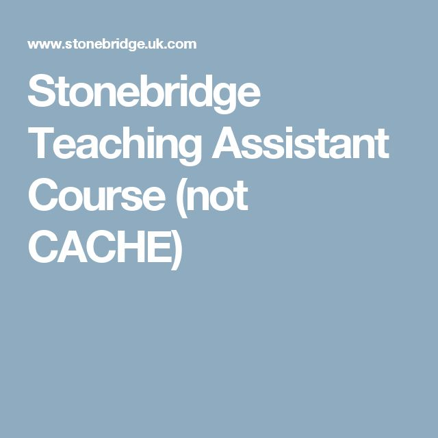 Stonebridge Teaching Assistant Course (not CACHE)