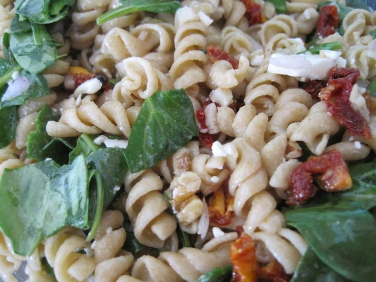 Sun Dried Tomato Feta Cheese Pasta Salad | Side Dishes | Pinterest