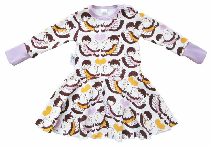 Long-sleeved dress, Violet - Melli EcoDesign - ecological children's clothes, premature clothes, preemie clothes, Finland