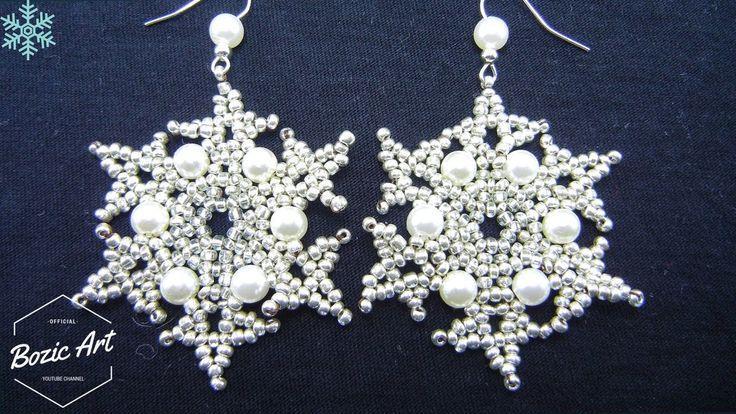 How To Make Snowflake Earrings