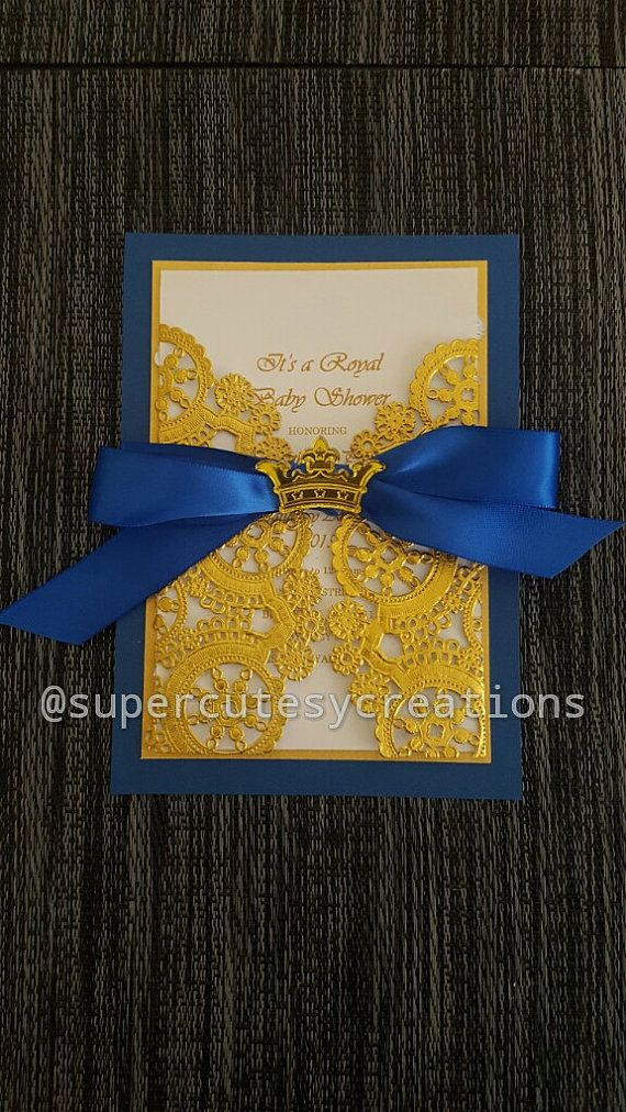 Royal Prince Baby Shower Invitations by SuperCutesyCreations