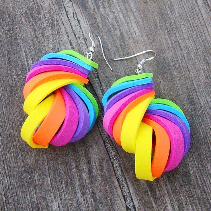 moosgummi earrings!