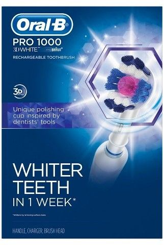Oral-B Precision Clean 1000 3D White Rechargeable Electric Toothbrush