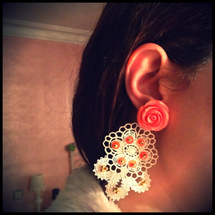 #Prada inspired #rose #earrings