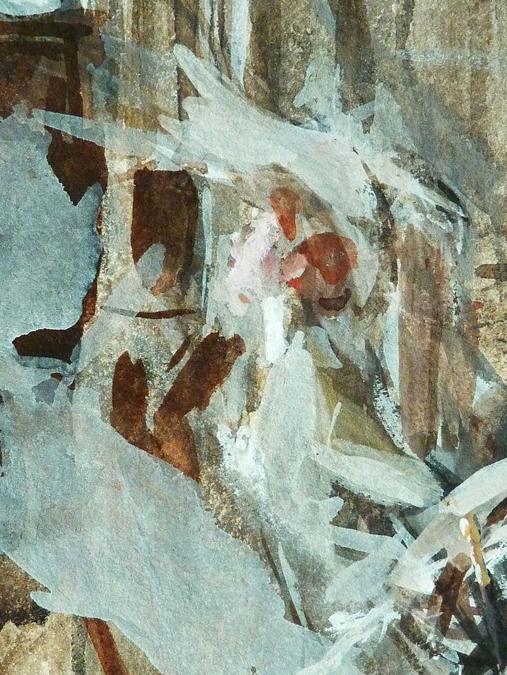 """BOLDINI Giovanni - Personnages dans une Eglise (Louvre RF39189) - Detail 01 -  TAGS/ details détail détails detalles drawing drawings dessin dessins 20th 20e """"20th 20e drawings 19e"""" """"19th-century drawings"""" """"italian painters"""" """"peintres italiens"""" croquis étude study sketch sketches """"19th century"""" Museum Paris France church église chiesa vitrail vitraux stained-glass voûte arch canopy colonnes pillars columns pillar column inn man men hommes people chaise chair watercolor aquarelle"""
