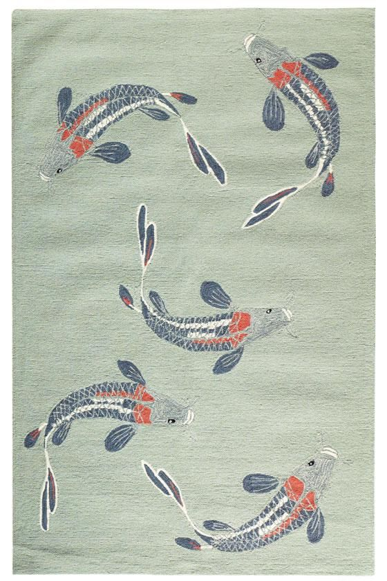 Koi Area Rug: An Outdoor Rug Pretty Enough For Indoors. #HDCrugs  HomeDecorators.