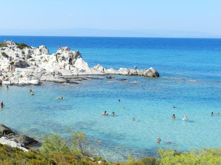 Greece, Sithonia, Orange beach