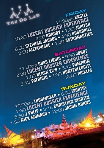 Coachella Weekend 2 - The Do LaB set times