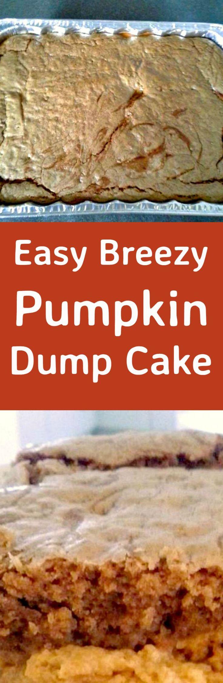 Easy Breezy Pumpkin Dump Cake - Recipes for regular and lite versions. You choose! | Lovefoodies.com