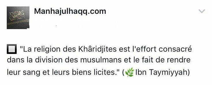 La religion des kharijites