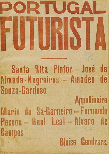 Portugal Futurista (1917) Uma revista portuguesa da qual só saiu um número.  A revista pretendia ser a voz impressa do Futurismo em Portugal .