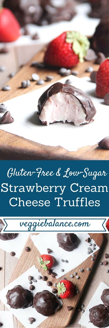 Strawberry Cream Cheese Truffles made with only 4-ingredients.| So easy to make and delicious to eat. Low-Sugar, Gluten Free, Grain-Free