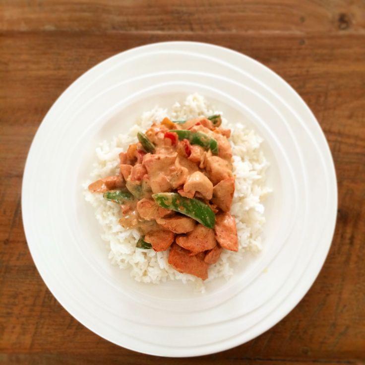 Zo maak je kip tandoori zonder pakjes en zakje, makkelijk en lekker recept van http://buuf-buuf.nl!