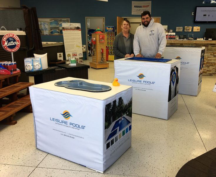 "Ready to pick your new Leisure Pools swimming pool?  Our friends at Ocean Blue Pools and Spas (Wilmington, NC) have samples of our ""mini-pools"" you can see and touch made of the same high quality composite fiberglass materials that the ""real ones"" are made from.  With over a hundred pool installations every summer, Ocean Blue is ready to help you live your ""life of leisure."""