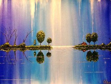 "Saatchi Art Artist Kyle Brock; Painting, ""As the Moonlight Dripped"" #art"