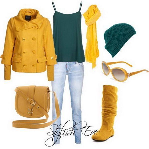 Mostaza so warm! Love the color combo