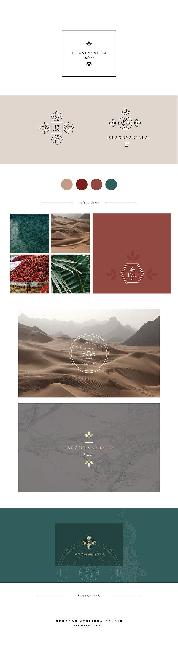 Luxury boutique style Branding for island vanilla. reminiscent of exotic locals and travel. By Deborah Jehlicka Studio