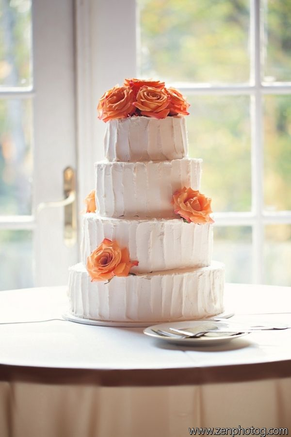 wedding cake with orange flowers orange flower wedding cake wedding cakes at barn 26931