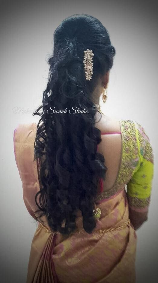Indian Bride S Reception Hairstyle By Swank Studio Bridal