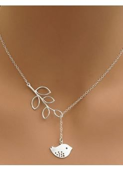 Little Bird Necklace!  Super Cute and SO SWEET! Love the Design! What a Great Little Necklace to give as a Gift! So Sweet! Love the Leaf Design!