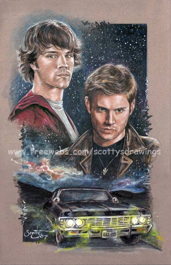 Bad Moon Rising by scotty309 on deviantART ~ Sam & Dean Winchester of Supernatural tv series {actors Jared Padalecki & Jensen Ackles}