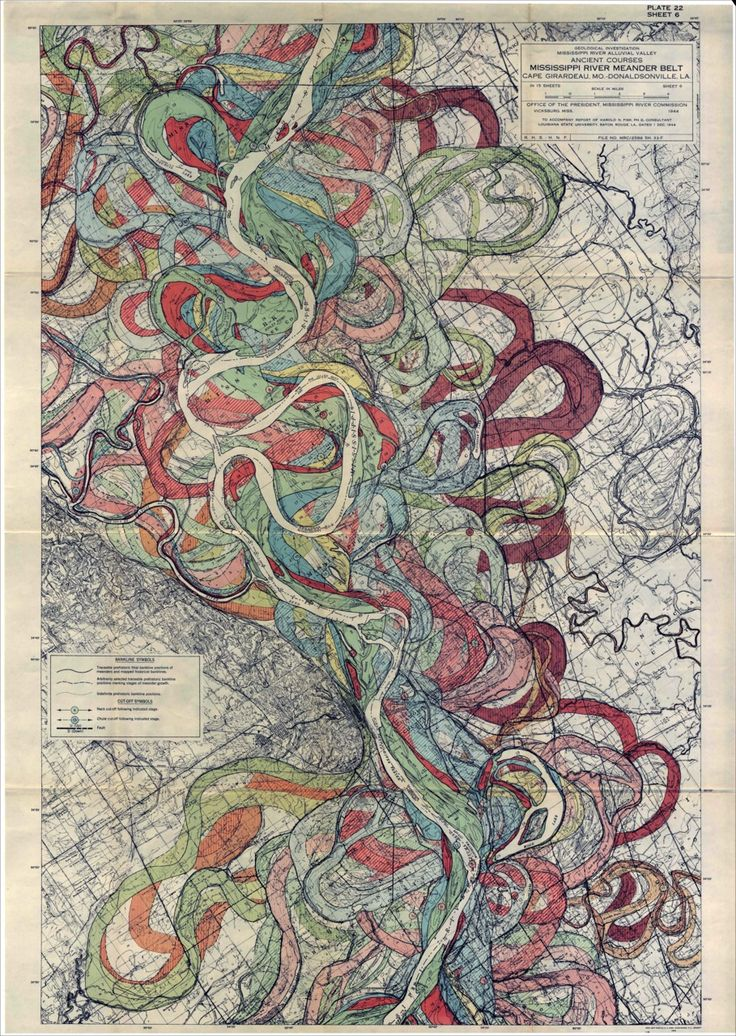 map art - rivers